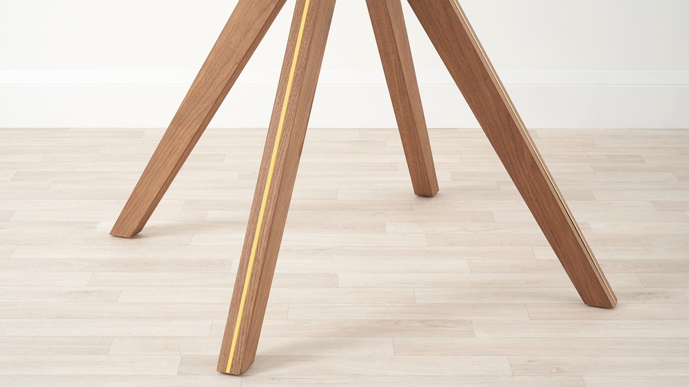 Brass and wooden table