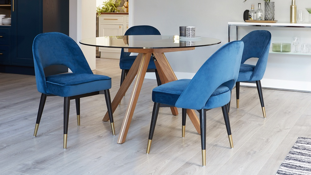 Buy modern velvet dining sets