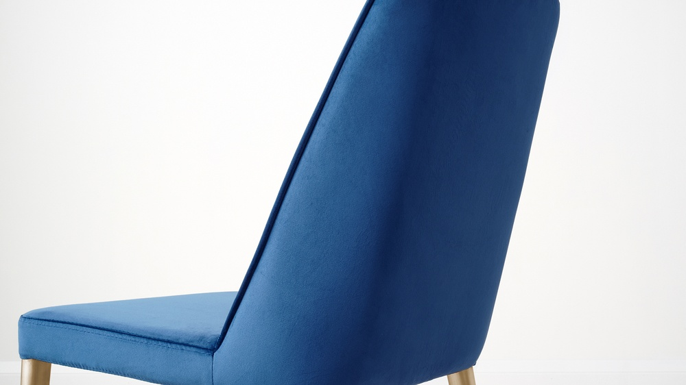 blue velvet chairs