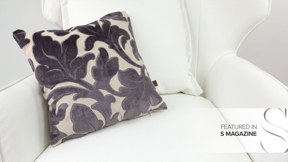 Grey Patterned Cushion
