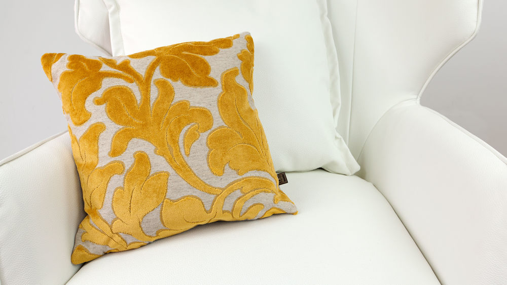 Yellow Patterned Cushion