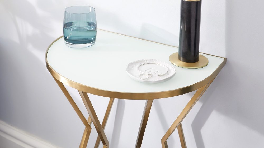 modern brass side table