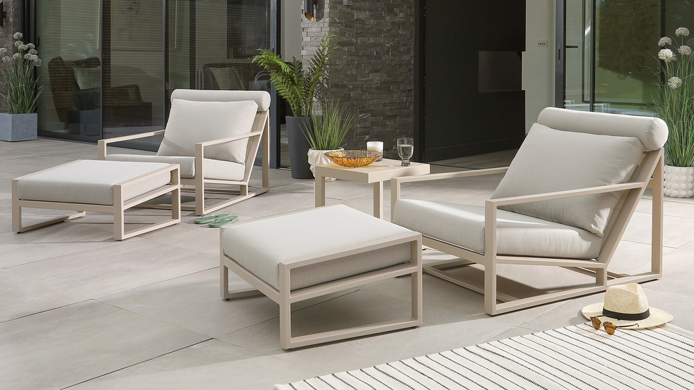 Verano Lounge Chair and Footstool