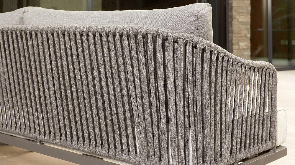 Contemporary grey garden bench
