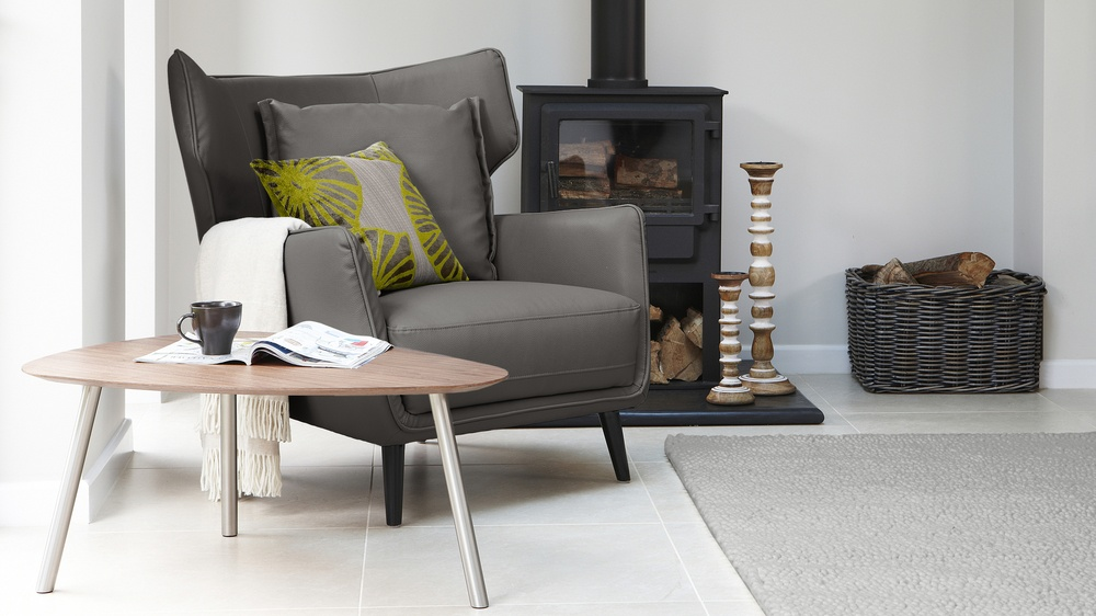 Grey Arm Chair with Cushion