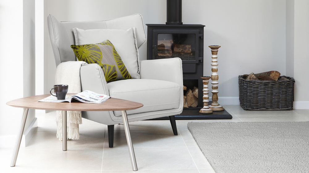 Light Grey Arm Chair UK Delivery