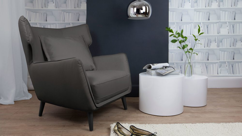 Comfortable Faux Leather Arm Chair