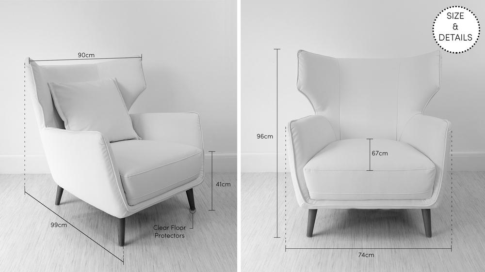 Wide Arm Chair with Head Rest