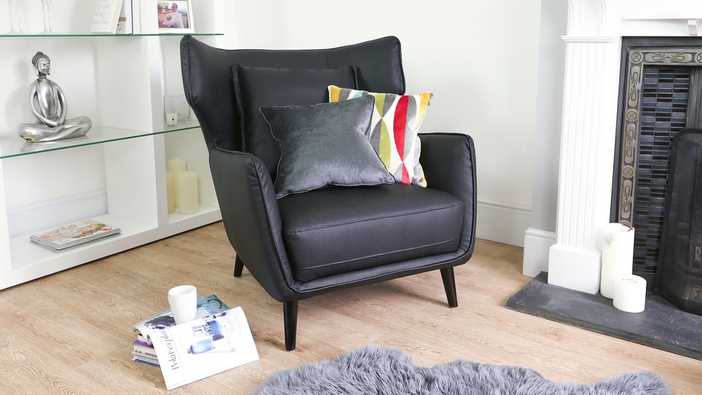 Contemporary Black Arm Chair