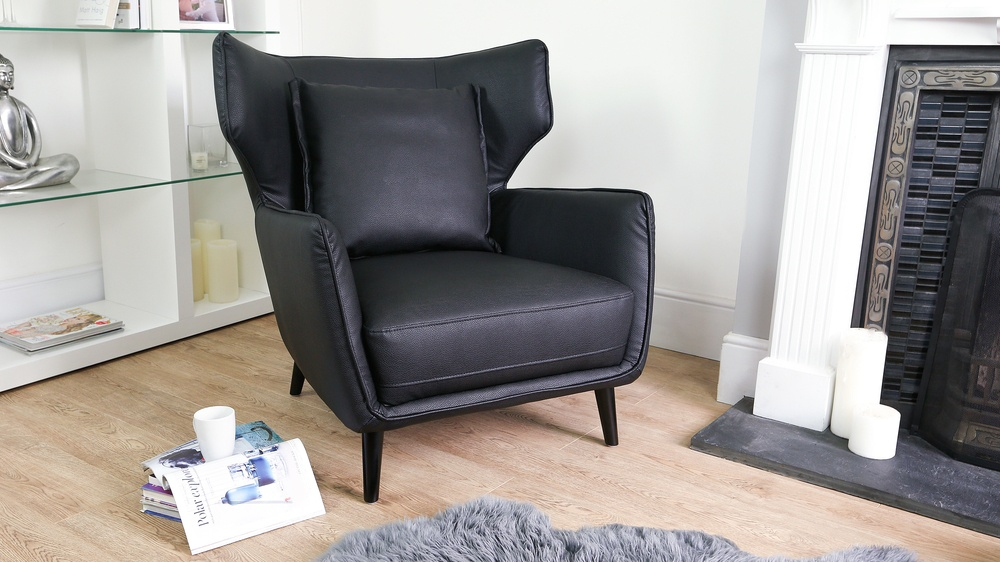 Large Black Arm Chair