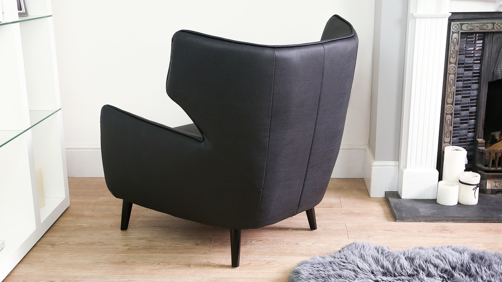 Contemporary Faux Leather Arm Chair