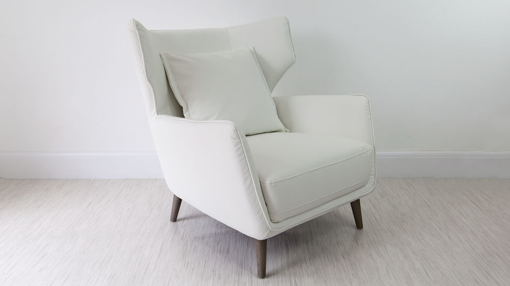 Wing Back White Occasional Chair