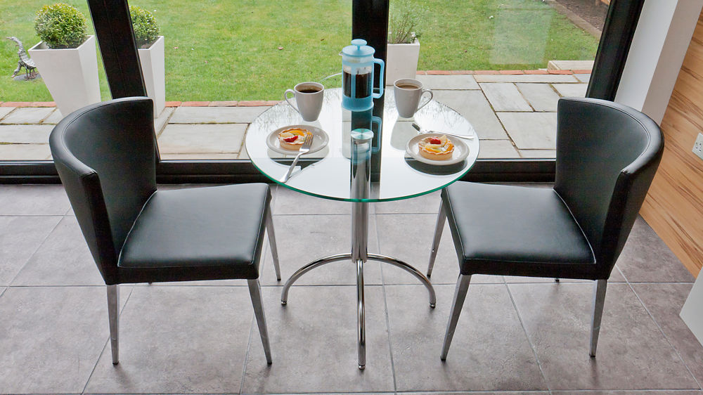 small glass dining table with black dining chairs stylish glass 2 seater - 2 Seater Dining Table Set