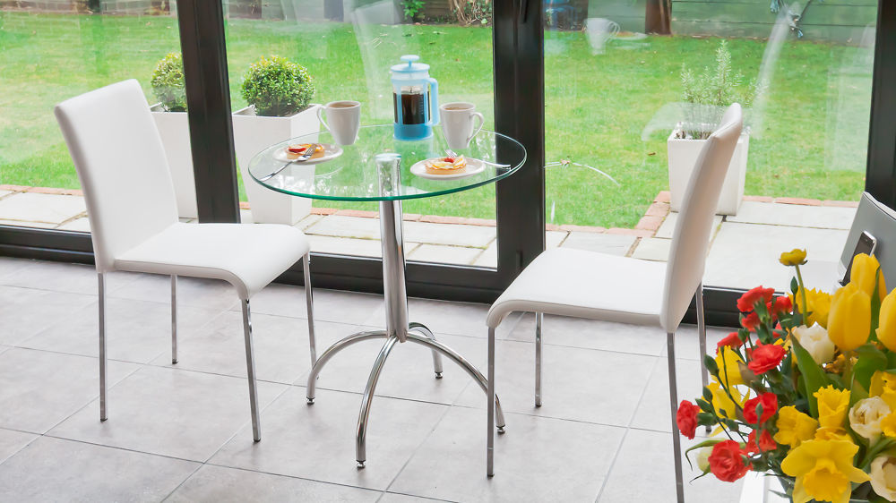 Small 2 Seater Table: Modern Round Glass Kitchen Table