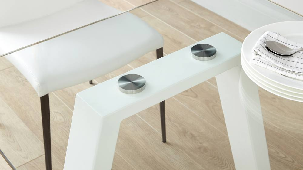 6 Seater Modern Strong White Gloss Table
