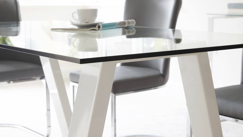 Glass Rectangle Table 6 Seater