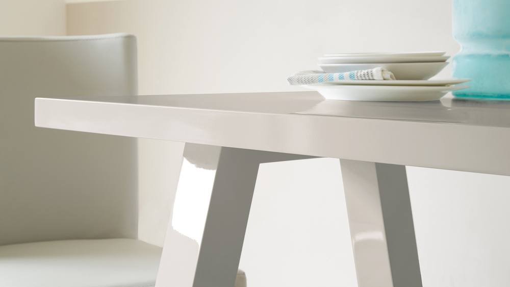 Modern Grey Gloss Dining Table
