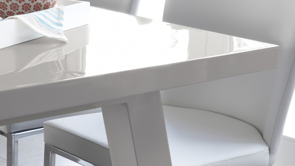 Modern and Contemporary Grey Gloss Dining Table
