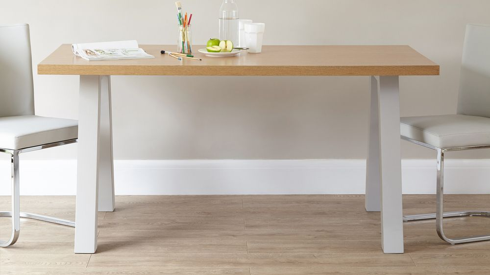 6 seater grey and oak dining table Exclusively Danetti with Julia Kendell range