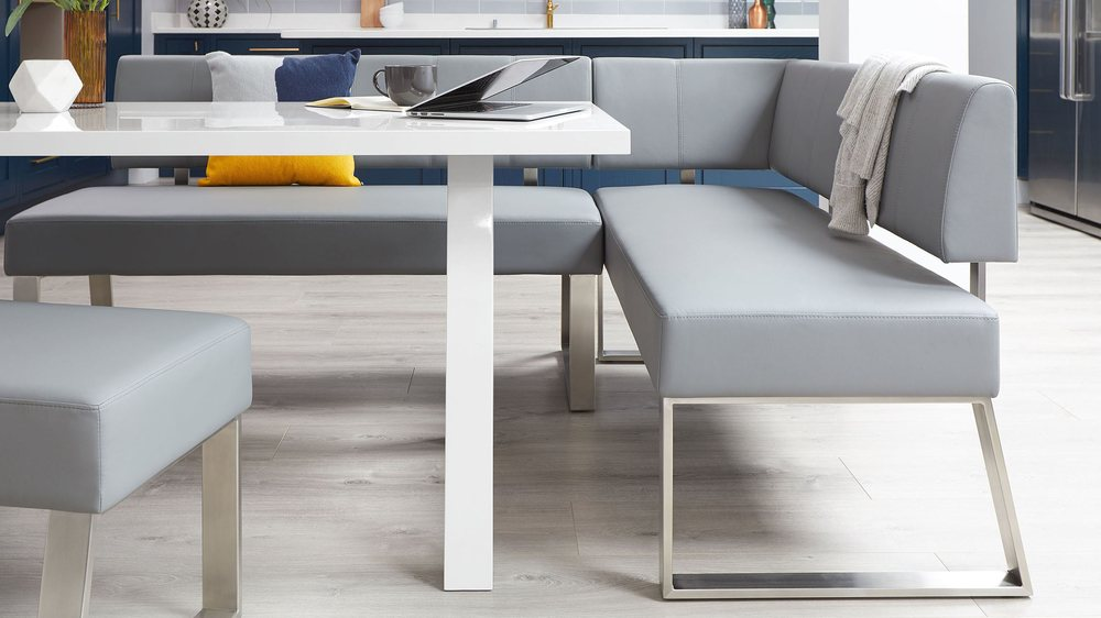 Modern white gloss trestle table