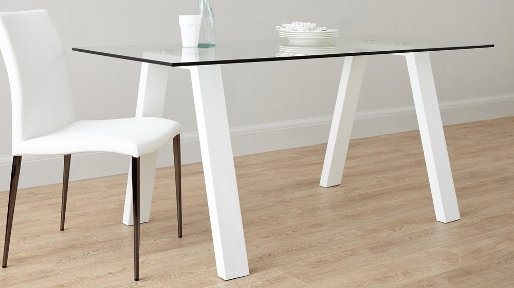 Buy white gloss and glass table