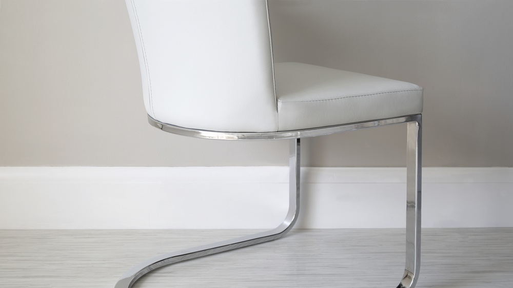 Stylish Chrome Legged Dining Chairs
