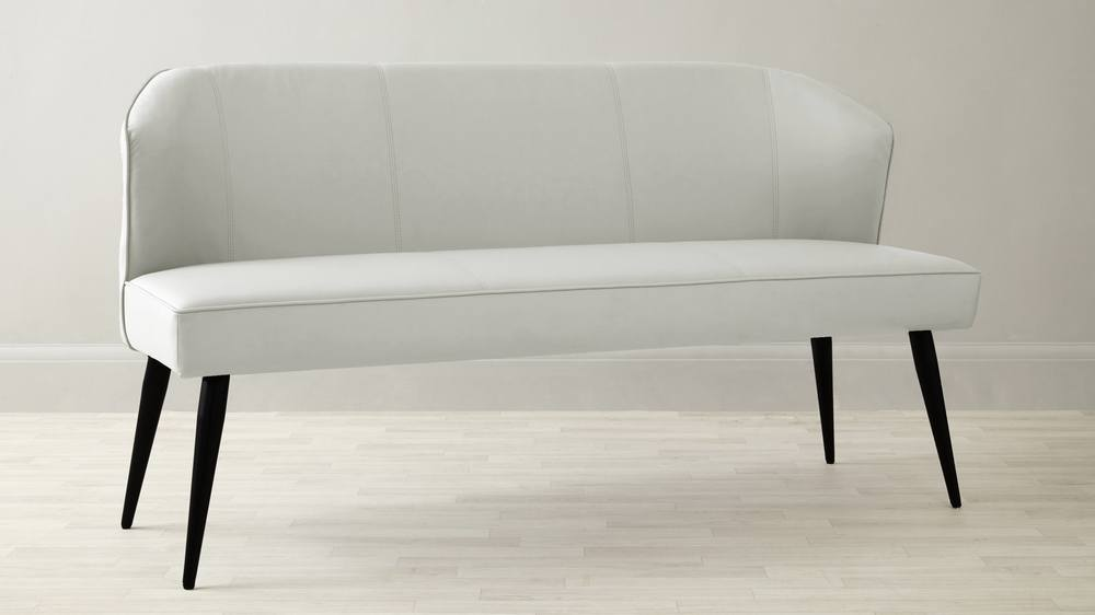 White leather quality bench