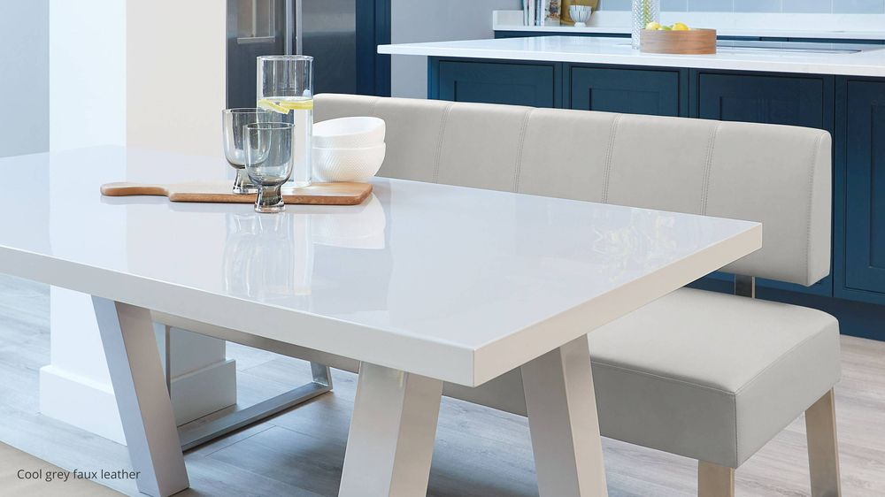 Modern grey dining benches