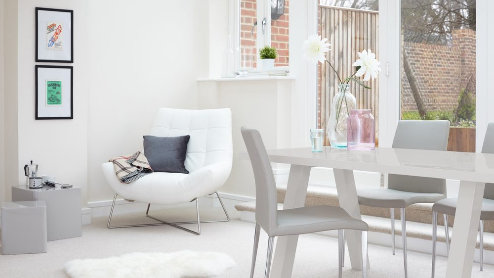 Modern and Contemporary Grey Gloss Dining Set