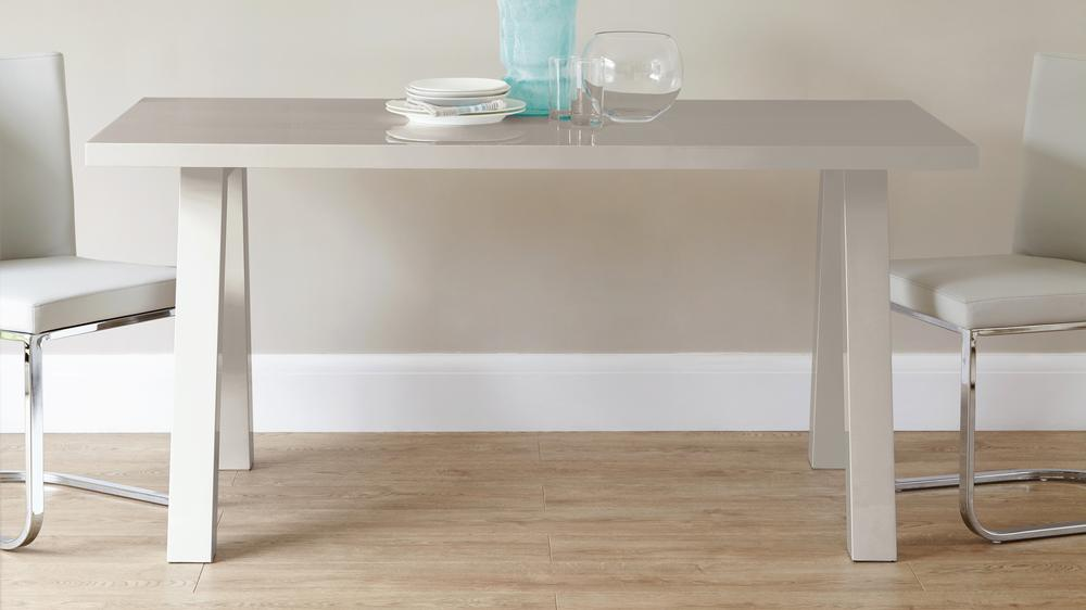 Designer Grey Gloss Dining Table