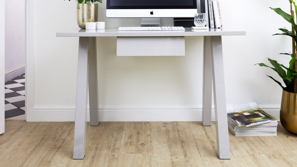 Grey gloss modern desk
