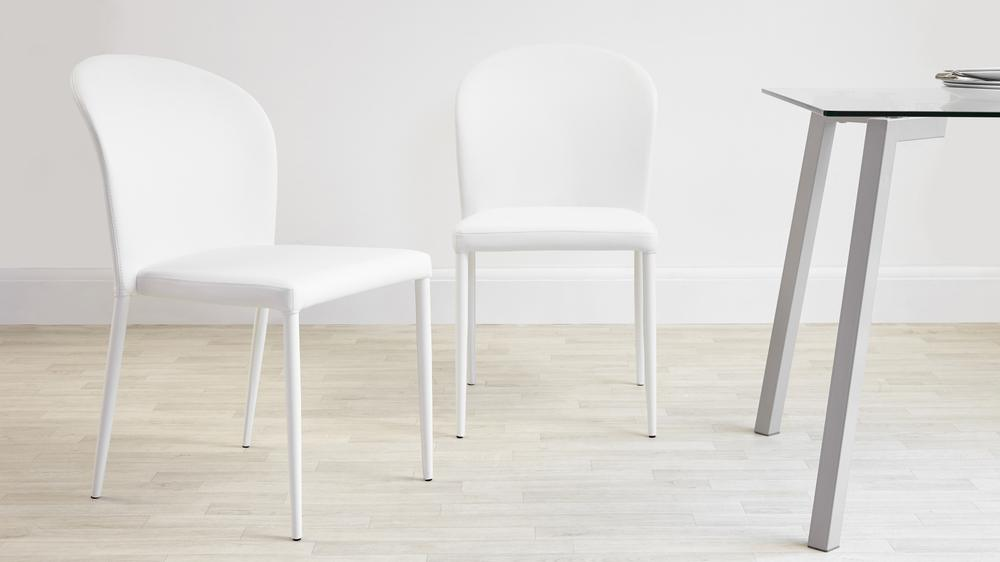White Dining Chairs that are Stackable