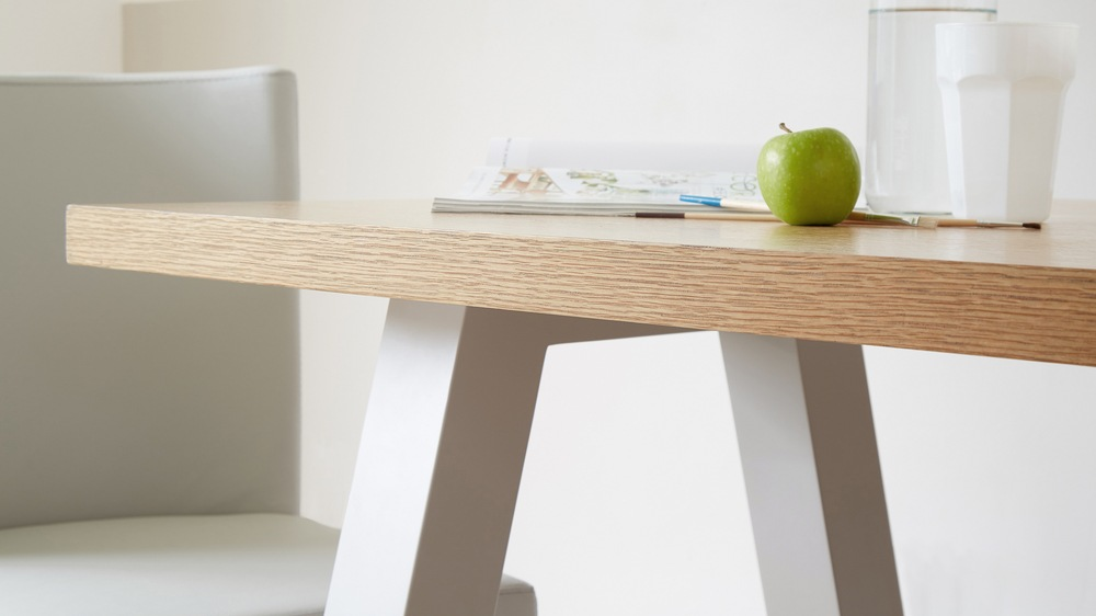 Contemporary Dining Table with Wooden Top