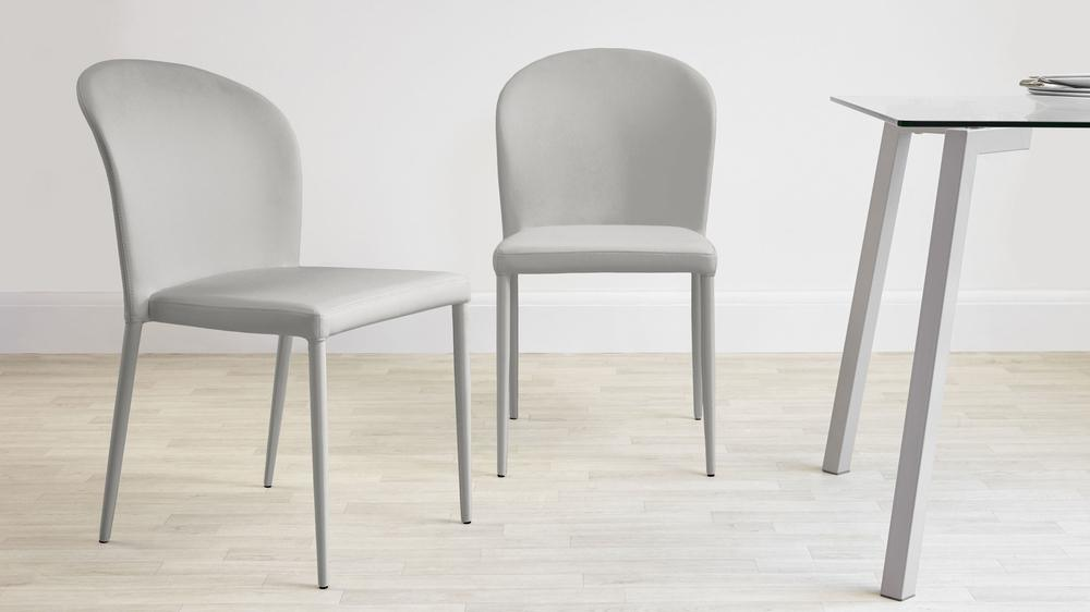 Light Grey Dining Chairs that are Stackable