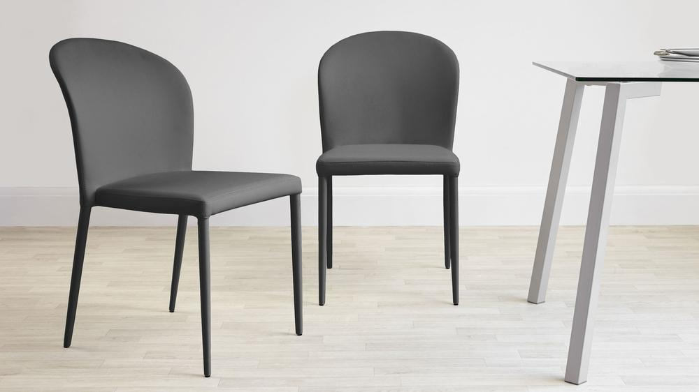 Dark Grey Dining Chairs that are Stackable