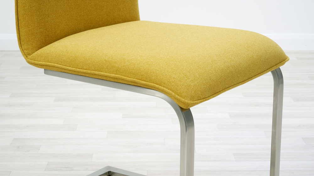 fabric cantilever dining chairs