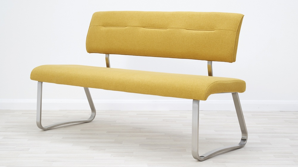 modern fabric dining benches