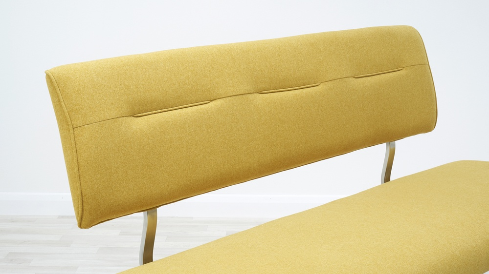 comfortable fabric benches