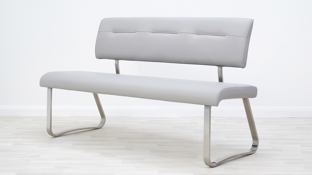 Modern faux leather benches
