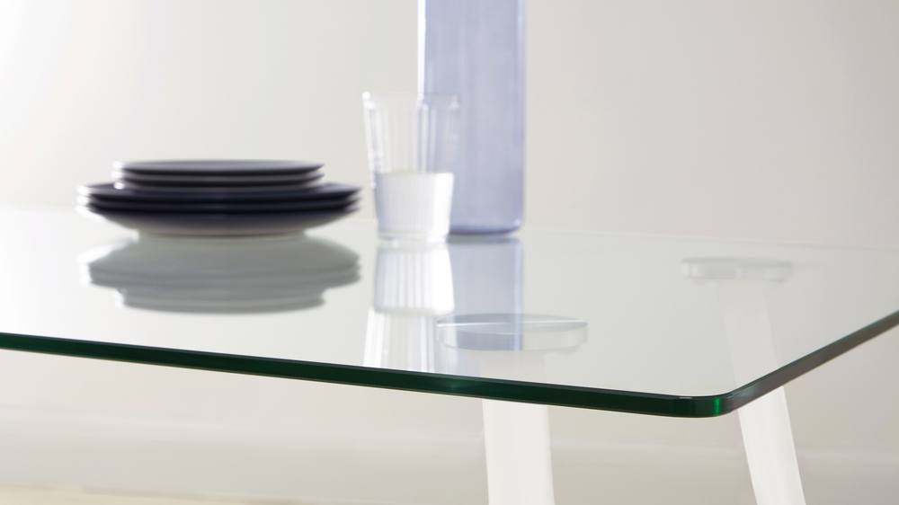 Glass kitchen dining tables