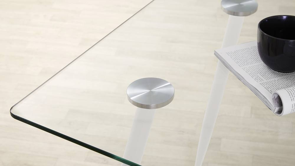 Modern white glass table