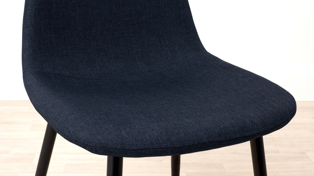 Comfortable Blue Fabric Dining Chair