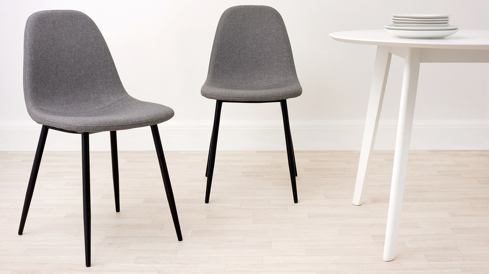 Zilo Grey Fabric Dining Chair