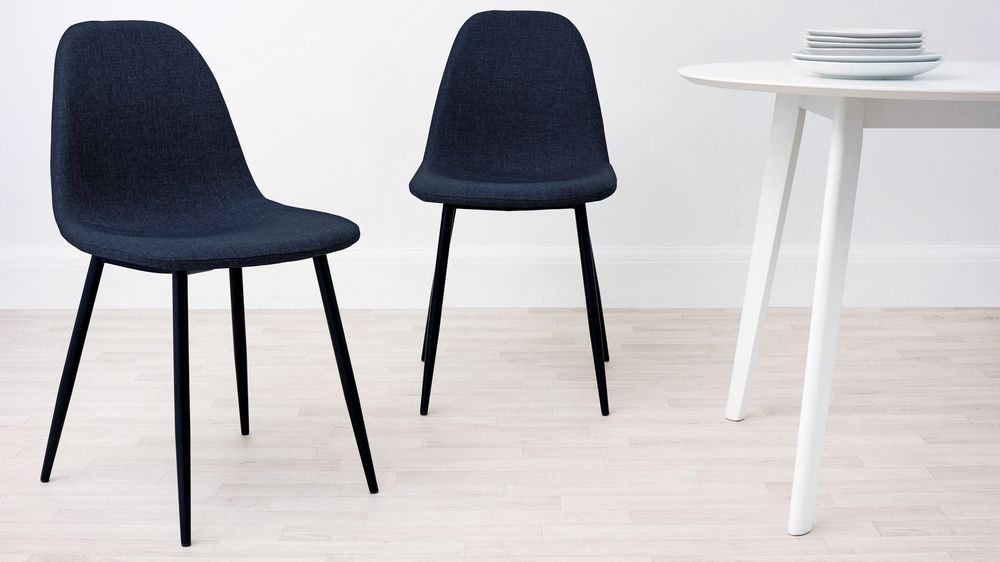 Navy Fabric Dining Chair