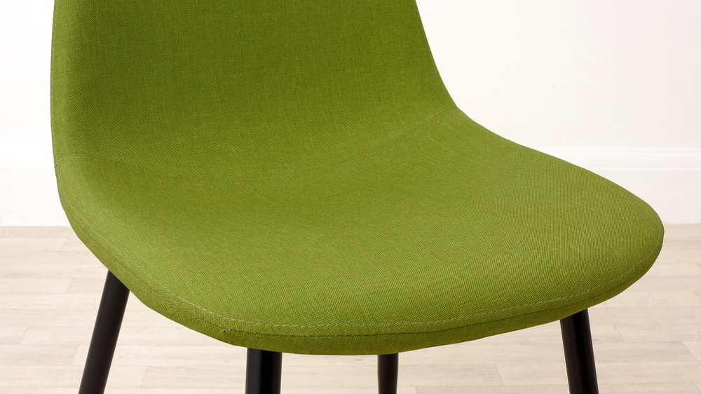 Lime green fabric chair