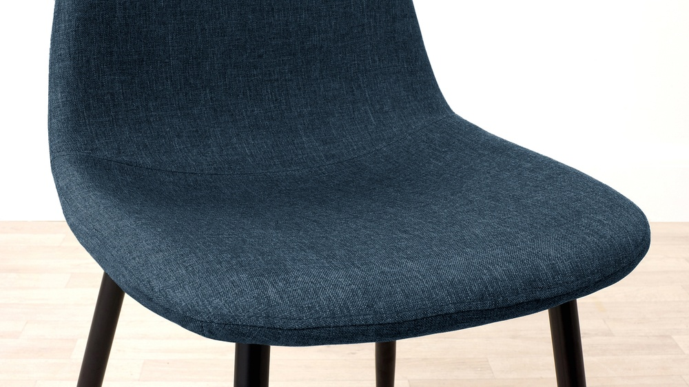 Buy teal blue fabric dining chair