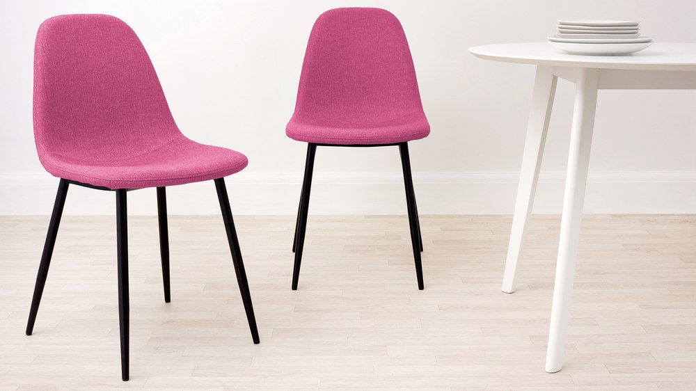 pink fabric chairs