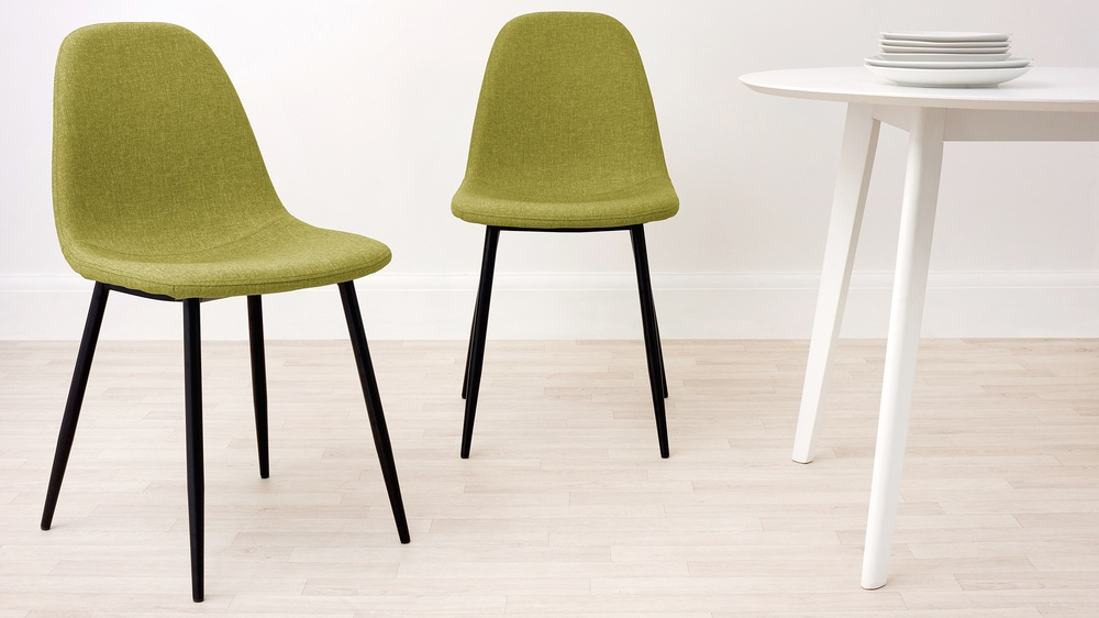 lime green fabric chairs