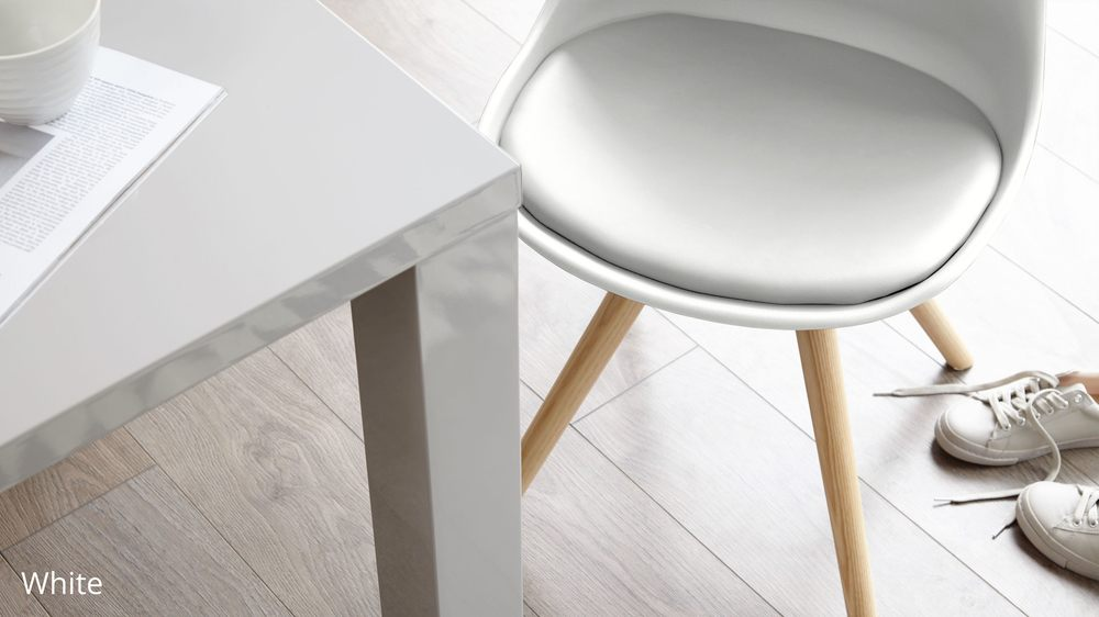 white dining chair