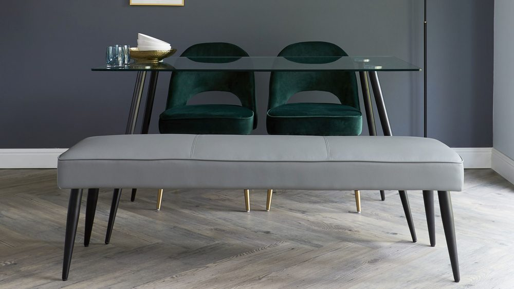 modern velvet dining bench sets
